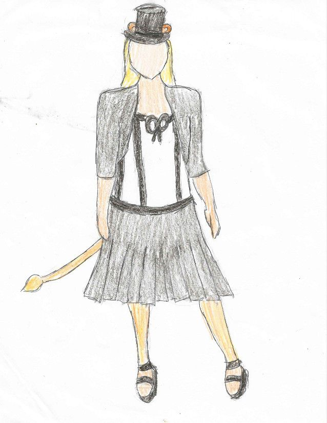 Sketch of Laika costume